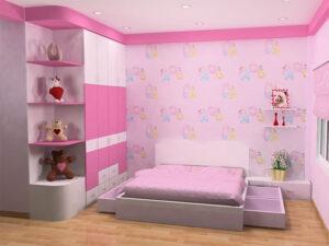 giấy dán tường phòng ngủ cho bé gái (4)