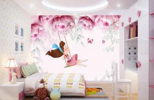 giấy dán tường phòng ngủ cho bé gái (5)