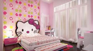 giấy dán tường phòng ngủ cho bé gái (6)
