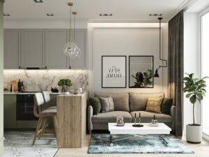 phòng khách nhỏ ở chung cư (10)
