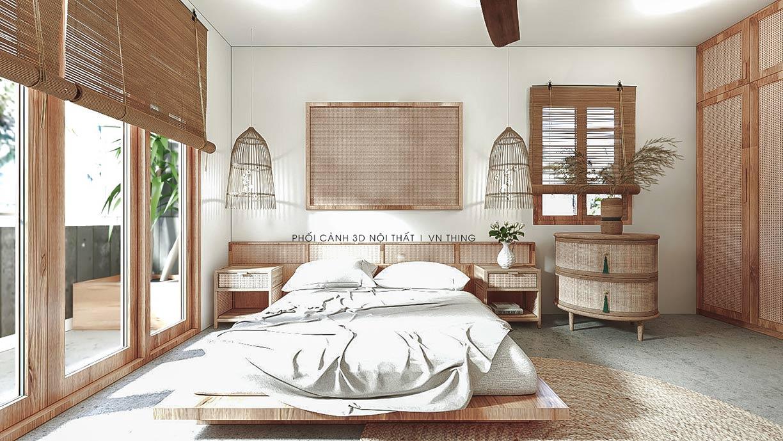 phòng ngủ phong cách bohemian