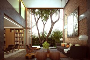 thiết kế tường gạch thô đẹp (1)