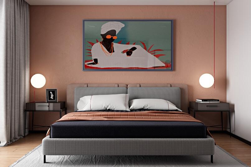 phòng ngủ màu hồng (8)