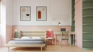 phòng ngủ màu tím hồng (1)