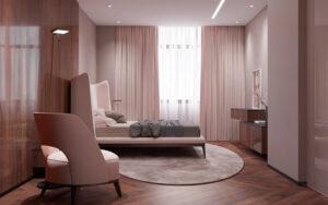phòng ngủ màu tím hồng (10)