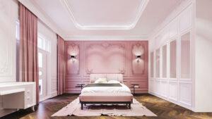 phòng ngủ màu tím hồng (11)