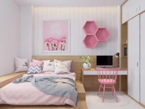 phòng ngủ màu tím hồng (12)
