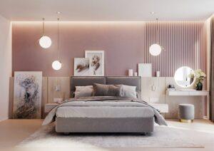 phòng ngủ màu tím hồng (3)