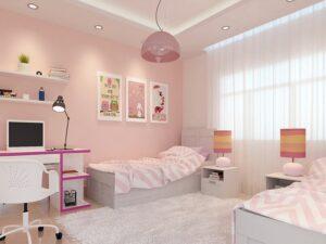 phòng ngủ màu tím hồng (4)