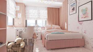 phòng ngủ màu tím hồng (5)