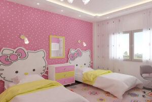 phòng ngủ màu tím hồng (8)