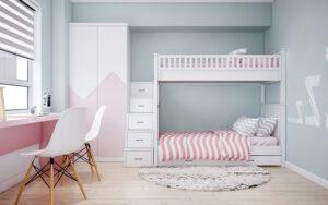 phòng ngủ màu tím hồng (9)