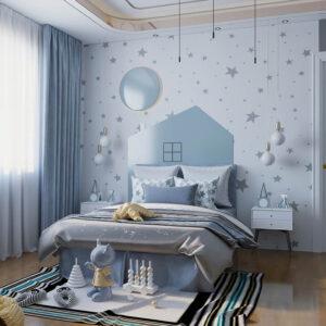 phòng ngủ màu xanh da trời (11)