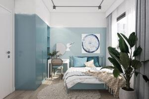 phòng ngủ màu xanh da trời (14)