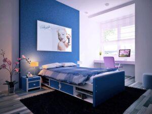 phòng ngủ màu xanh da trời (2)