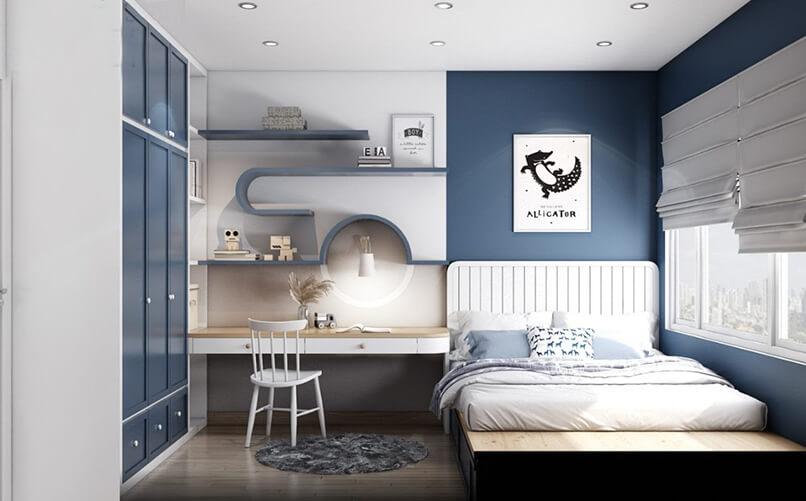 phòng ngủ màu xanh da trời (4)