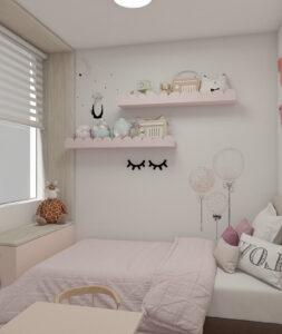 sơn phòng ngủ màu tím hồng (1)