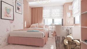 sơn phòng ngủ màu tím hồng (10)