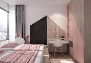 sơn phòng ngủ màu tím hồng (11)