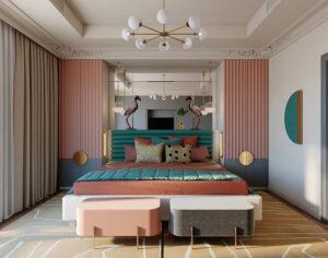 sơn phòng ngủ màu tím hồng (2)