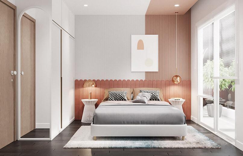 sơn phòng ngủ màu tím hồng (3)