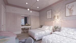 sơn phòng ngủ màu tím hồng (5)