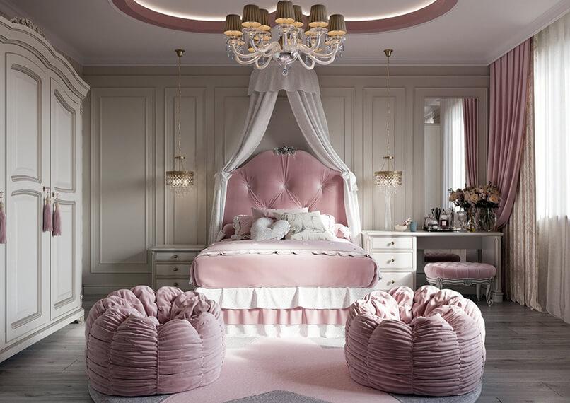sơn phòng ngủ màu tím hồng (6)
