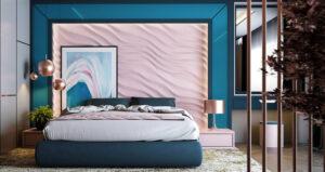 sơn phòng ngủ màu tím hồng (7)