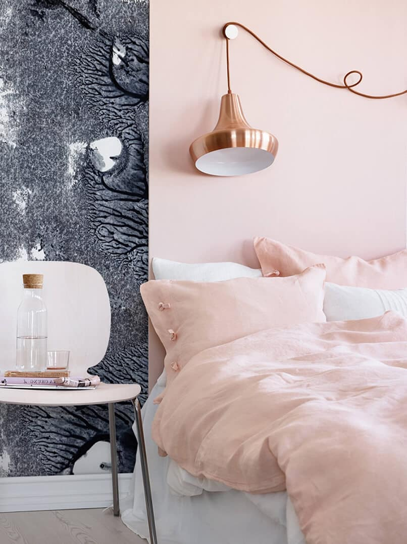 sơn phòng ngủ màu tím hồng (9)