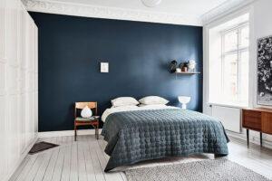sơn phòng ngủ màu xanh da trời (2)