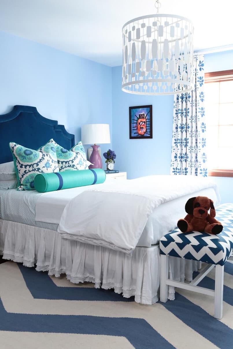 sơn phòng ngủ màu xanh da trời (4)
