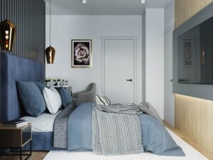 sơn phòng ngủ màu xanh da trời (9)