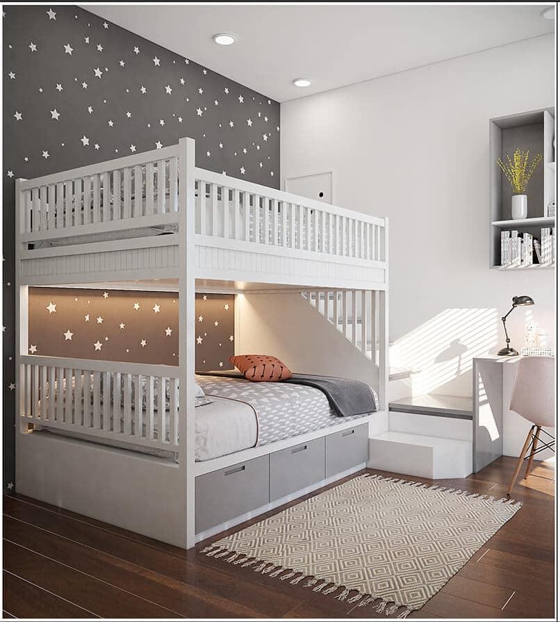 thiết kế giường tầng cho trẻ em (1)