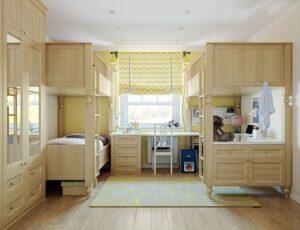 thiết kế giường tầng thông minh (2)