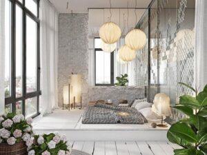 thiết kế phòng ngủ không cần giường (10)