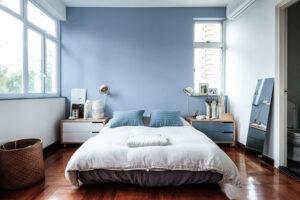trang trí phòng ngủ màu xanh da trời (1)