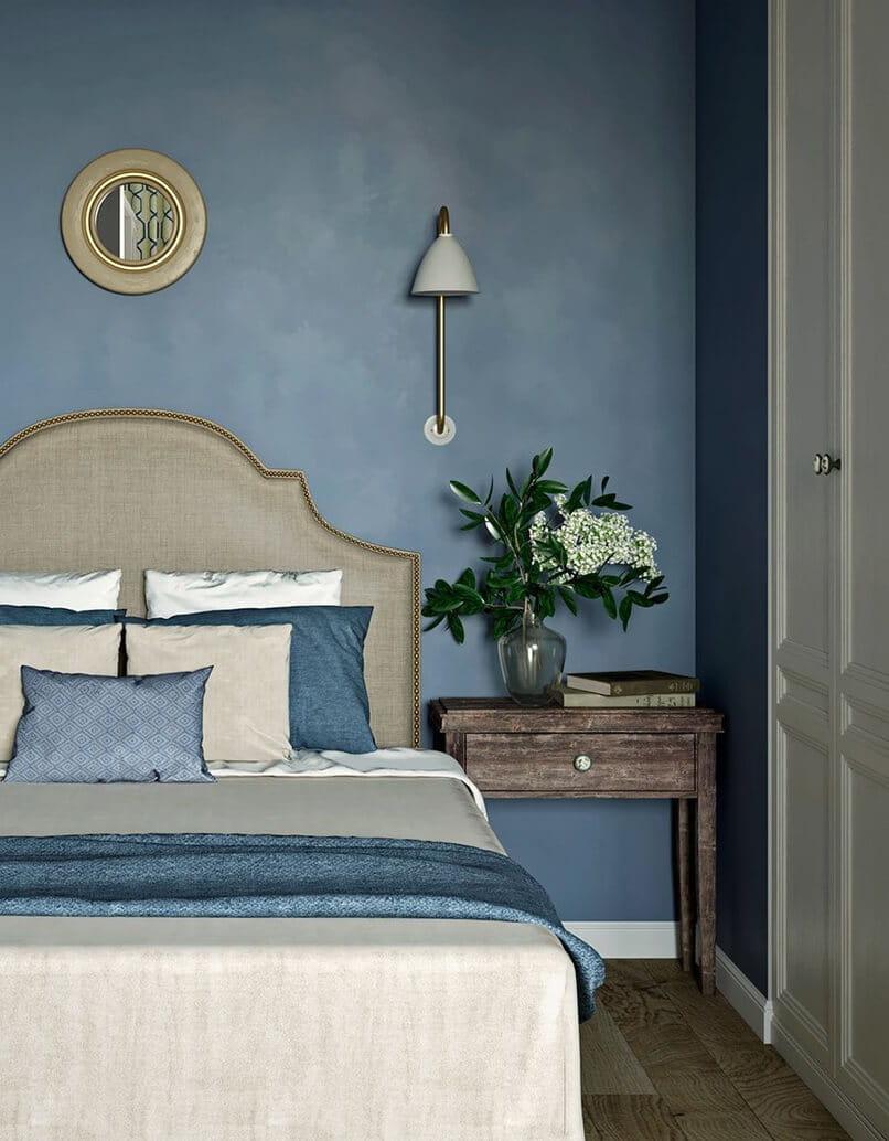 trang trí phòng ngủ màu xanh da trời (2)