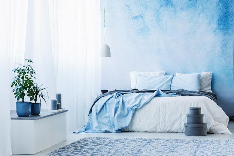 trang trí phòng ngủ màu xanh da trời (3)