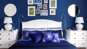 trang trí phòng ngủ màu xanh da trời (5)