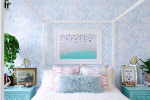 trang trí phòng ngủ màu xanh da trời (6)
