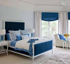 trang trí phòng ngủ màu xanh da trời (7)