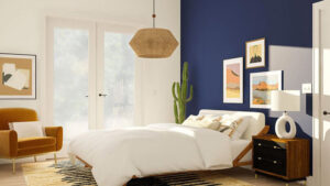 trang trí phòng ngủ màu xanh da trời (8)