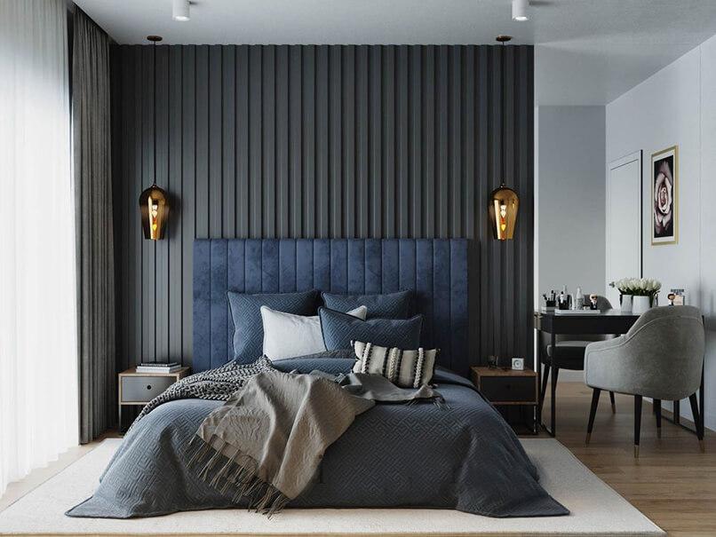 trang trí phòng ngủ màu xanh da trời (9)
